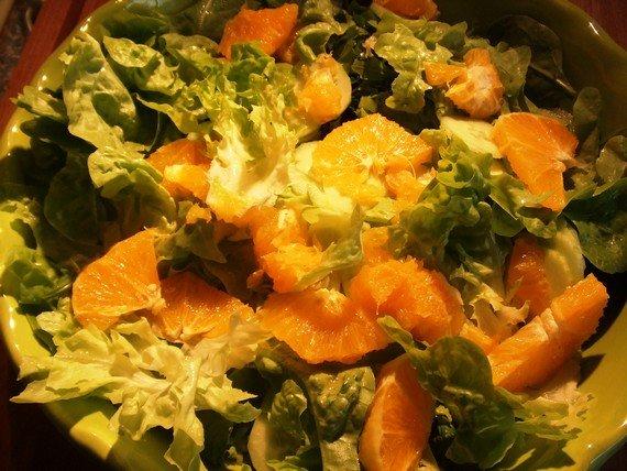 salade à l'orange, pleine de calcium