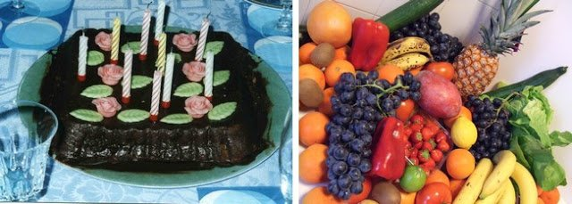 gâteau chocolat Fruits