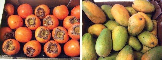 kakis et mangues