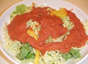 Des spaghettis crus