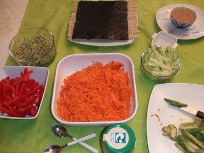 sushis préparation