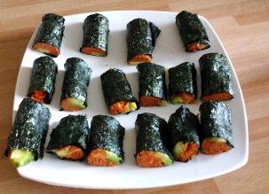 Vidéo des sushis crus