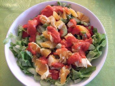 dîner, grosse salade