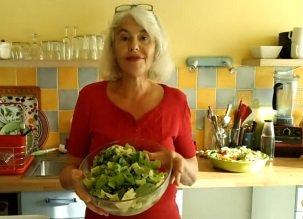 Salade verte fruitée vite faite