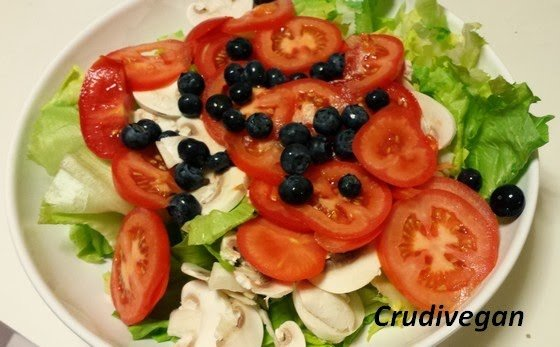salade champigons-myrtilles