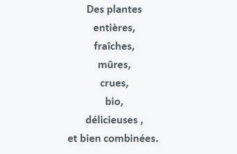 L'alimentation idéale en 8 mots