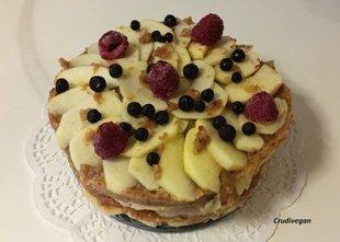 Un délice de  gâteau : recette végétalienne et crue
