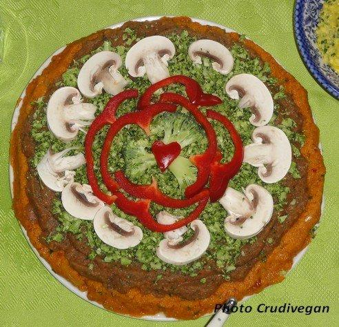 Pizza crue Crudivegan