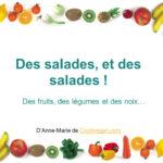 couverture Des salades, et des salades