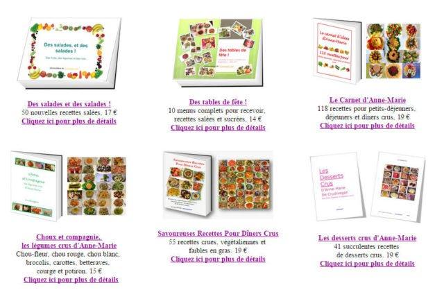 Ebooks de recettes crues vegan