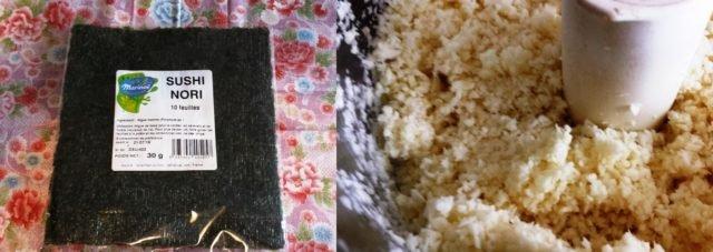 panais mixé et feuilles de nori