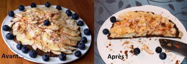 tarte  crue aux pommes