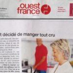 Crudivegan est dans Ouest-France !