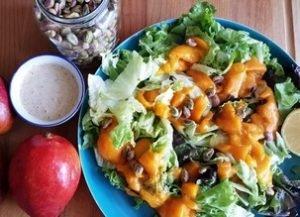 salade mangue et pistaches