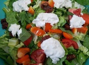 Sauce amande et sa salade de romaine