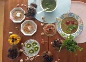 Desserts crus aux graines de Chia