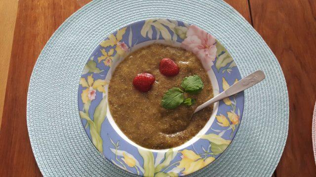 Pudding de chia-mangue