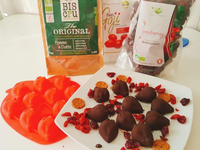 chocolats fraises et goji