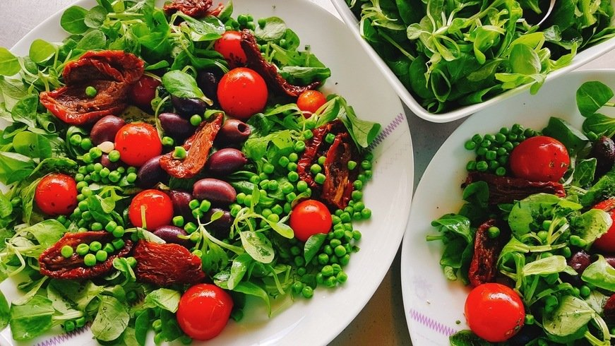 salade aux pois crus
