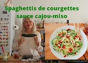 Spaghettis de courgettes sauce divine et mon nouveau spiraliseur !