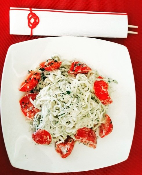 spaghettis courgettes