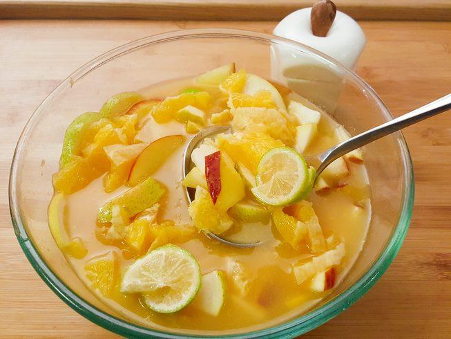 cocktail aux fruits saladier