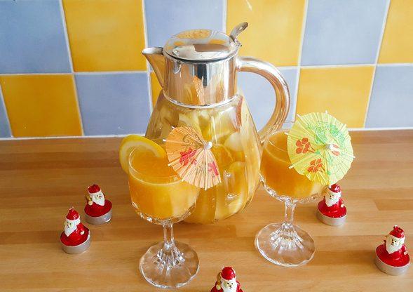 cocktail de fruits pétillant