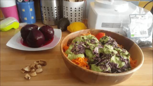 salade du soir vegan et crue
