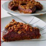 Crumble aux myrtilles- Gâteau de fête vegan, tout cru et sans apport de gras