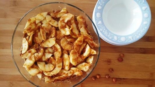clafoutis cru à la pomme