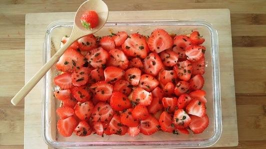 tarte crue aux fraises
