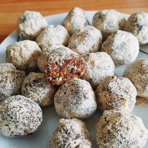 Bouchées maca cacao chia