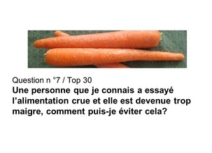 Top 30 Q/R-Q6-Choisir-les fruits ou le gras ?  et Q7- Eviter de trop maigrir