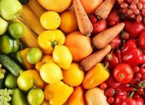 fruits et légumes crus