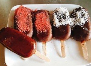 Glace chocolat-caroube-açaï
