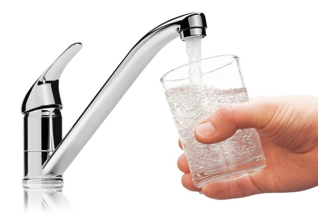 verre d'eau du robinet