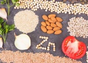 Le zinc dans alimentation vegan crue