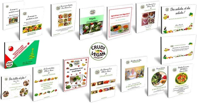 recette et e-book crue et vegan